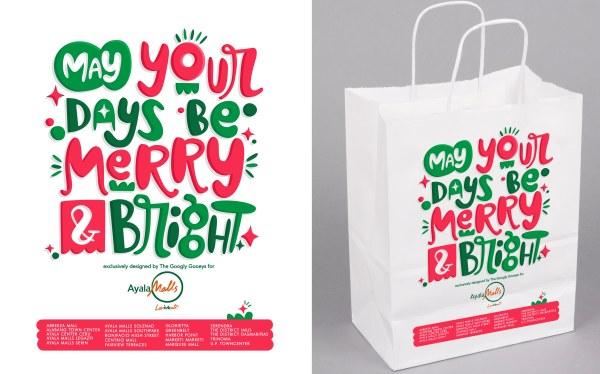 Ayala Malls Christmas PaperBag Merry & Bright
