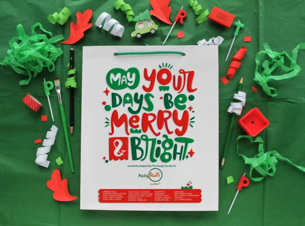 Ayala Malls Paper Bag Merry & Bright Lettering