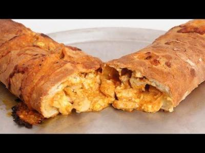 Homemade Stromboli With Sausage And Peppers Recipe - Laura Vitale - Laura In The Kitchen Episode 344