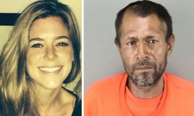 Kate Steinle and her murderer, Juan Francisco Lopez-Sanchez