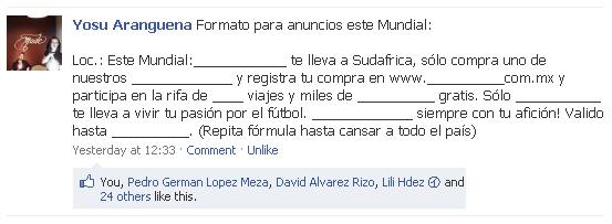 Formato de anuncio para año de Mundial de fútbol