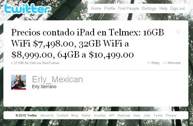 Precios al contado de iPad