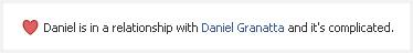 Relationship status del falso Daniel