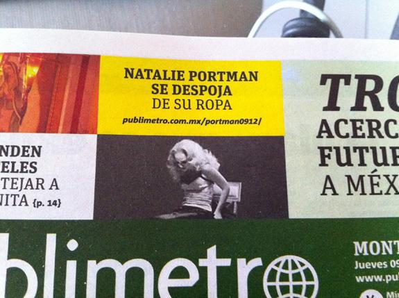 Noticia sobre Natalie Portman en Publímetro