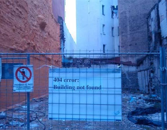 Edificio no encontrado: error 404