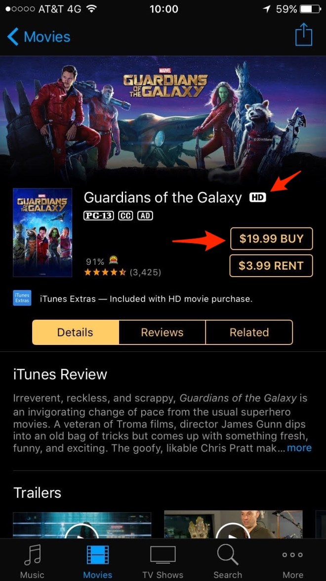 Guardians of the Galaxy - iTunes