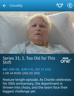 Casualty - 27-08-2016 - YouView app