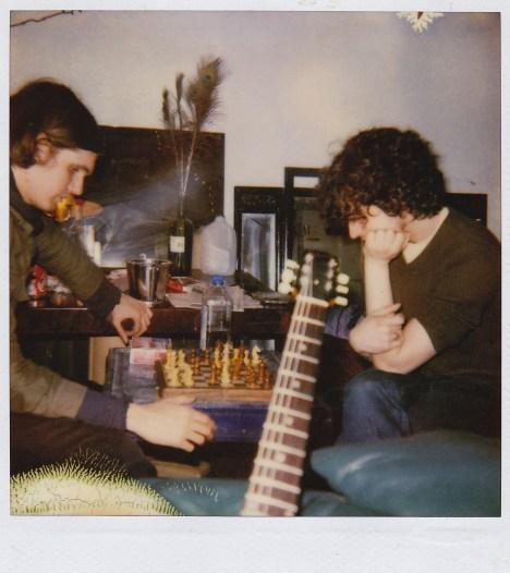 Fab and Nikolai play chess at studio