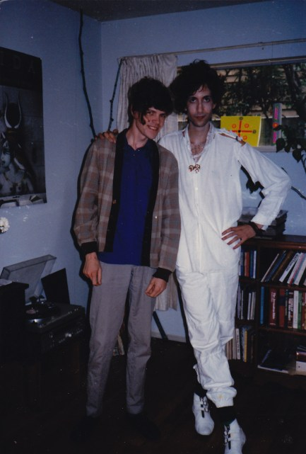 Tor and Gordon after a Colour Twigs Show, in Apt F