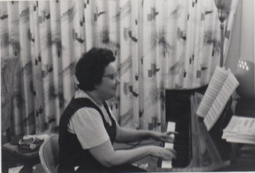 Grandma Clara at her piano