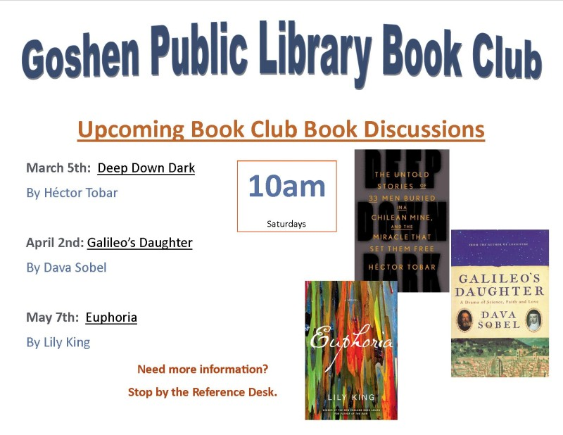 Upcomming book discussions Mar-May flyer dpf