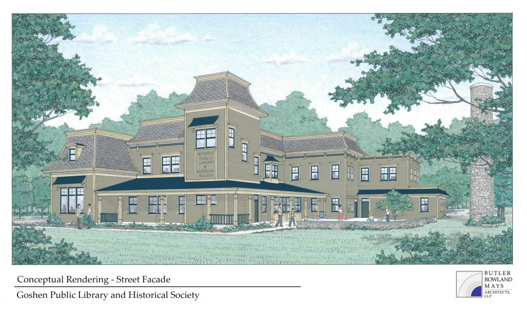 New building facade rendering