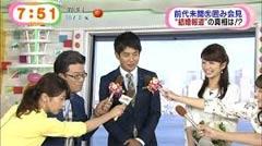生野陽子アナ結婚報告時の加藤綾子アナ