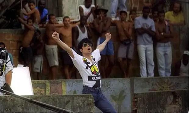 Micael Jackson Filming his Music Video at Santa Marta Favela in 1996