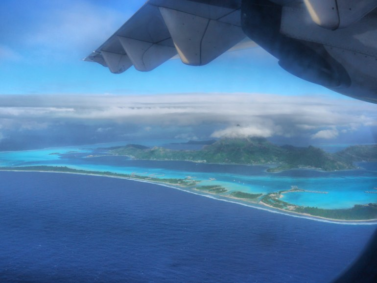 Airplane View - Bora Bora from Above, A Slice of Heaven on Earth