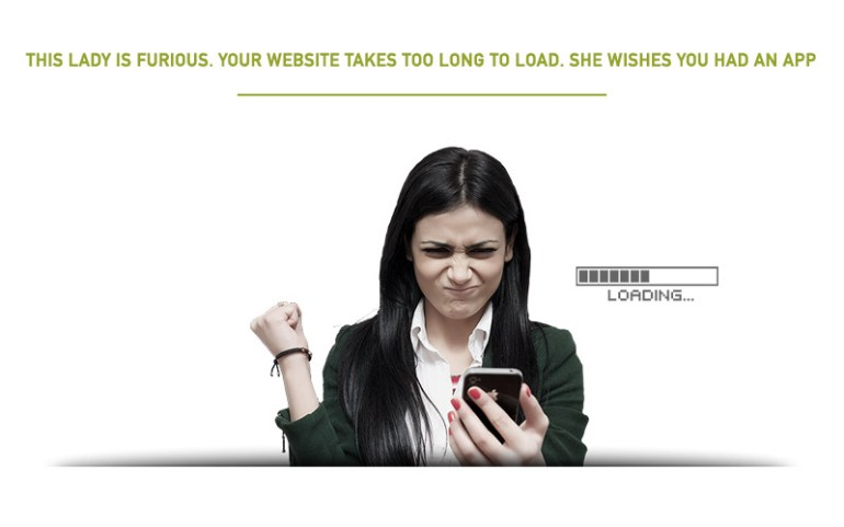 Angry Woman - Website Taking Too Long to Load