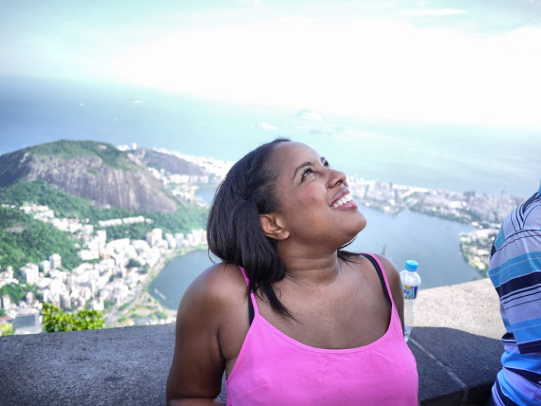 Nat Looking Up At Christ the Redeemer