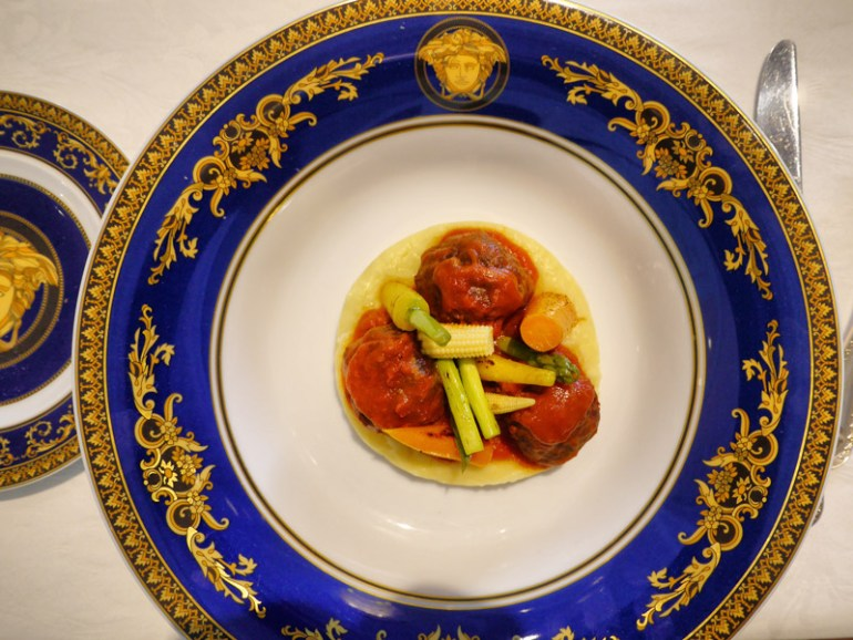 Hearty Italian: Lamb Meatballs with Mashed Potato & Grilled Vegetables