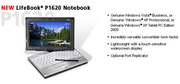 Fujitsu P1620 Tablet PC