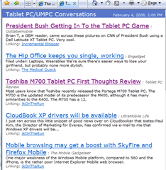 Tablet PC/UMPC Conversations