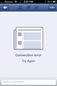 iOS Facebook App