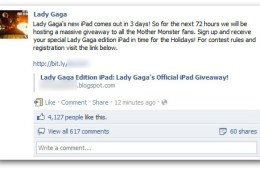 Lady Gaga iPad Scam