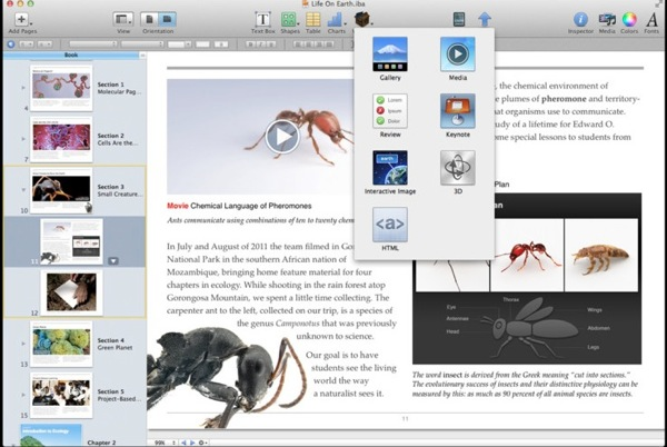 Ibooks author interactives