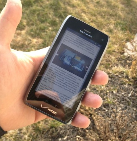 Droid 4 Display Outdoors