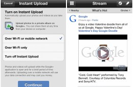 Google+ for iOS Instant Upload