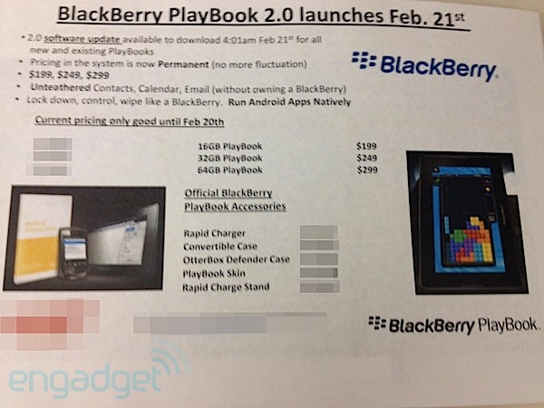 BlackBerry PlayBook OS 2.0 Rolling Out on February 21st?