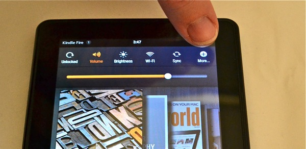 Kindle Fire Settings - choose more