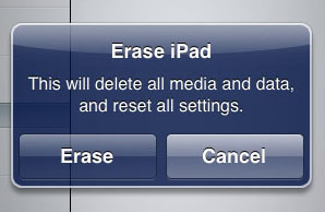 Erase iPad Confirmation