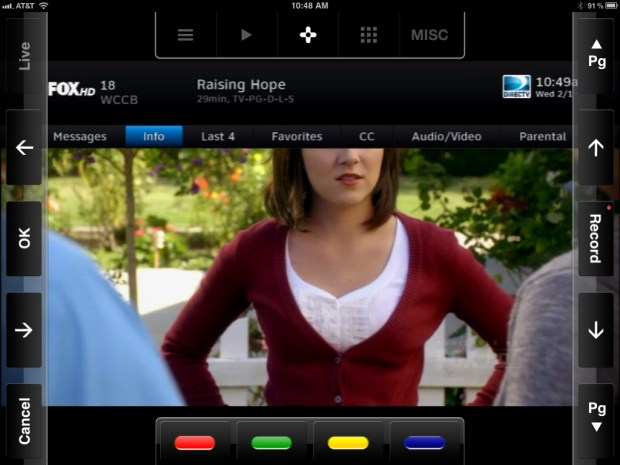 SlingBox App Controls