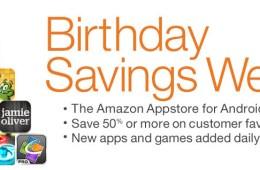 Amazon Appstore Birthday Sales
