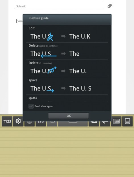 Samsung Galaxy Tab 7.7 Handwriting Keyboard