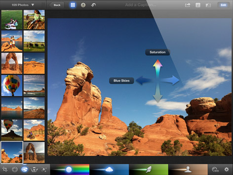 Apple iPhoto for the New iPad