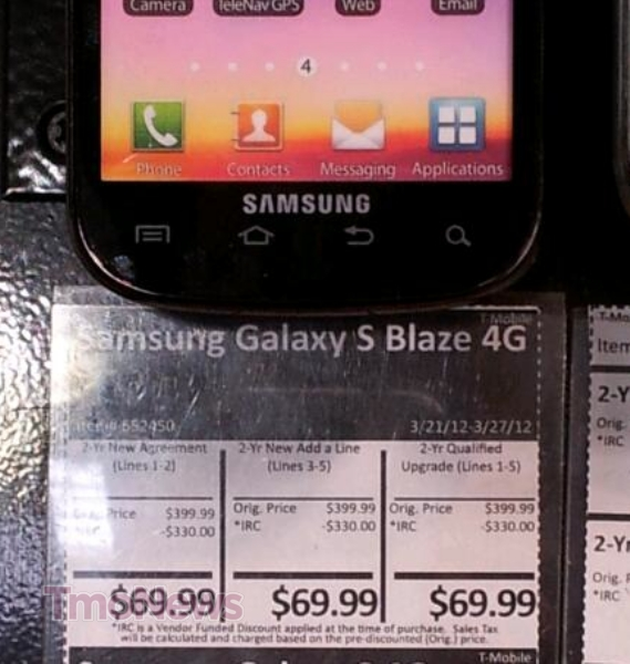 Want the Samsung Galaxy S 4G Blaze? Get It At Costco