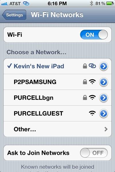 iPhone Wi-Fi Settings