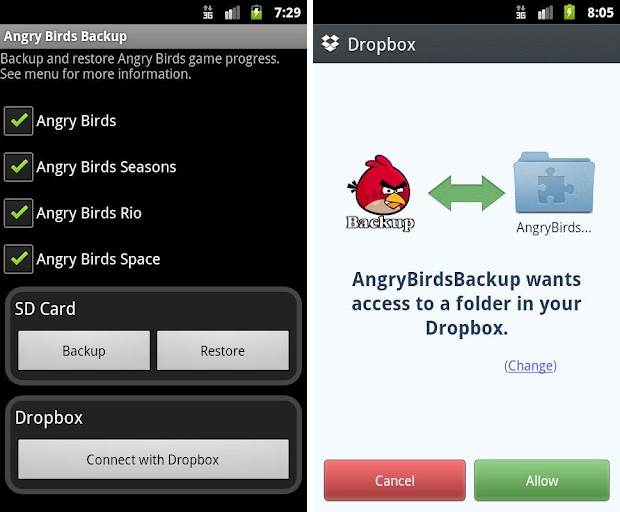 Angry Birds Backup