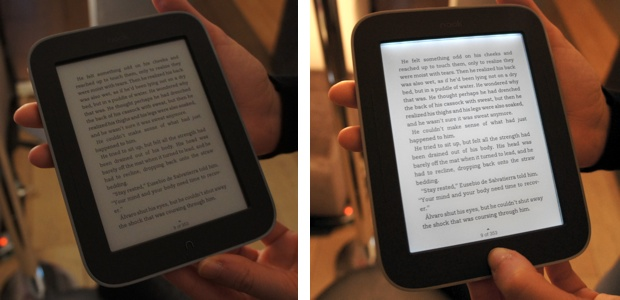 Nook Simple Touch With GlowLight side-by-side