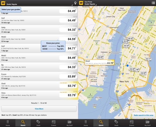 YP Yellow Pages app