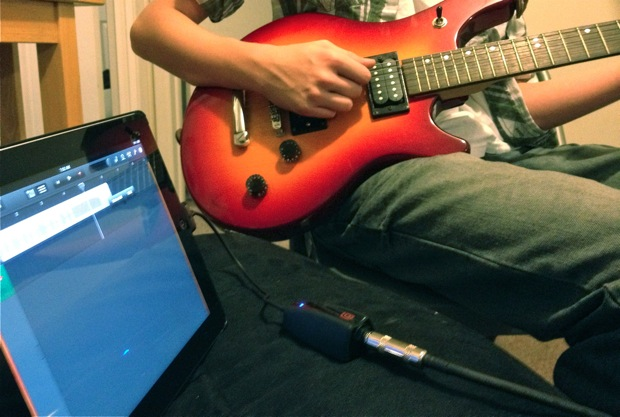 Guitar Connect Pro hooked up to my iPad and my son's guitar