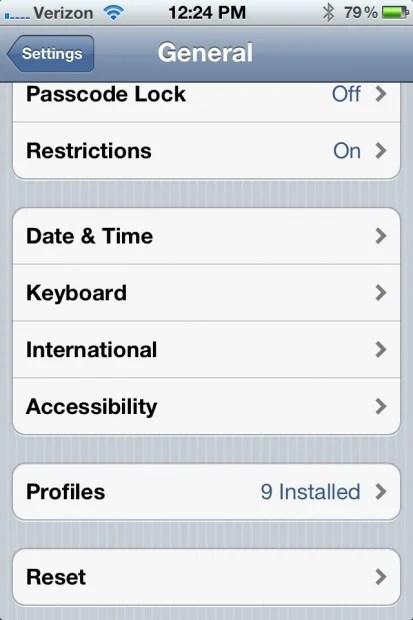 iOS 5.1.1 Settings battery life fix