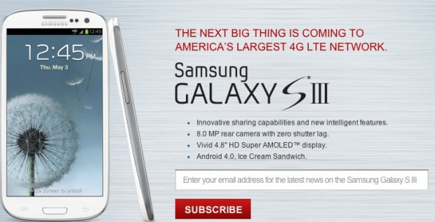 Verizon Galaxy S III Pre-order