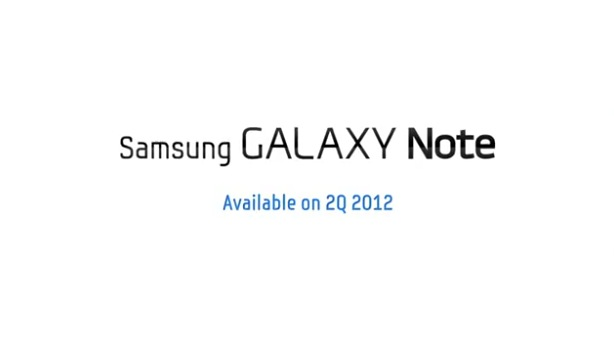 Screenshot from the Samsung produced video advertising the Samsung Galaxy Note update