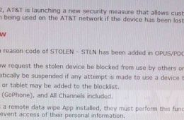 AT&T blocking system