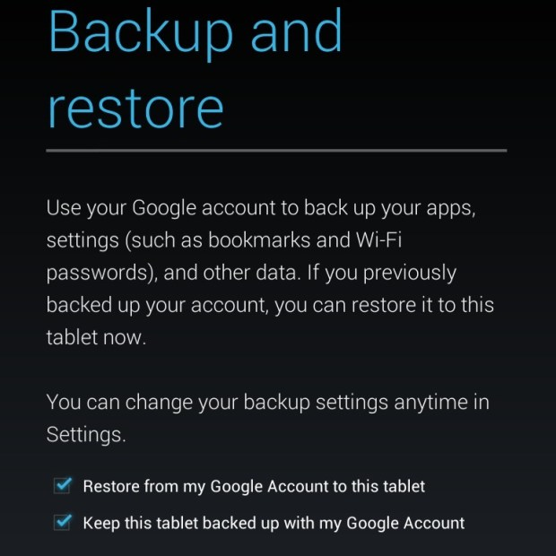 Automatic Nexus 7 backup