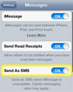 Send as SMS
