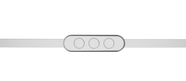 a JAYS Four ear buds for iPhone and iPad white remote