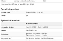 13-inch MacBook Pro with Retina Display geekbench benchmarks